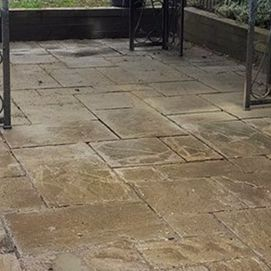 a patio we cleaned